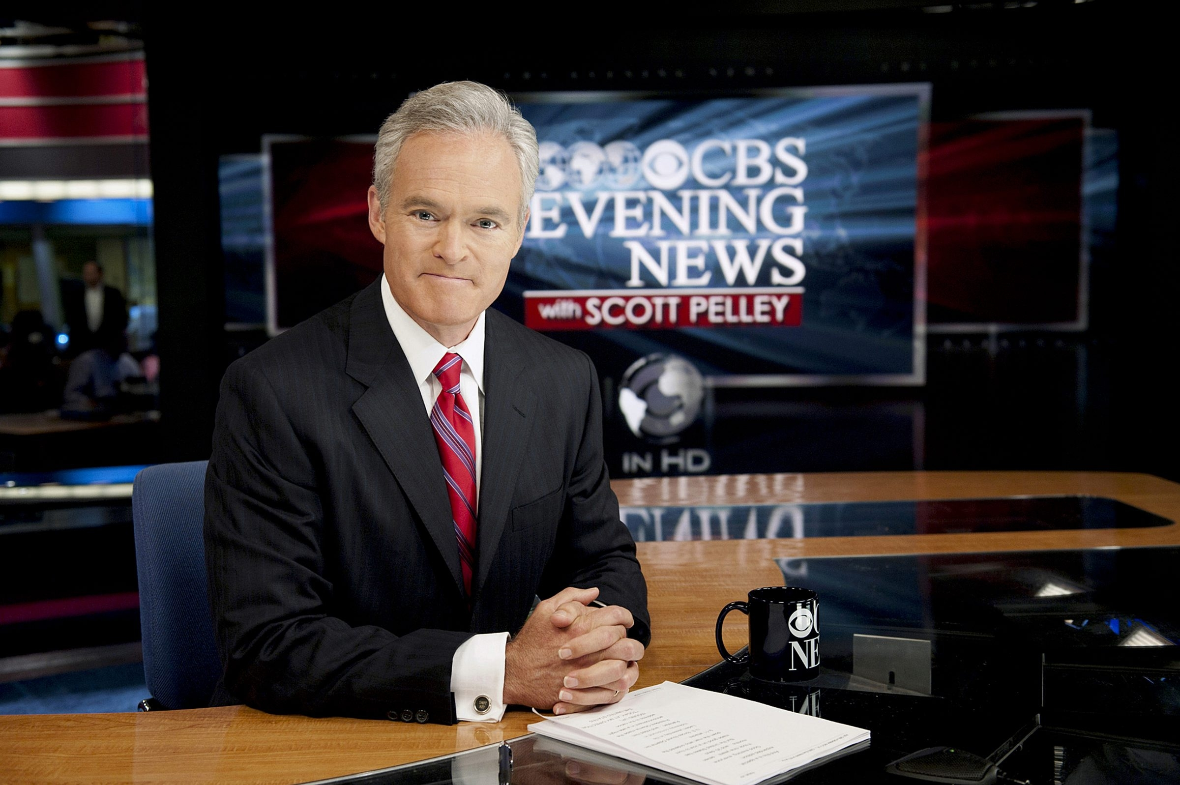 """Scott Pelley of """"CBS Evening News"""" prefers to talk about rising audience numbers rather than the show's ratings."""