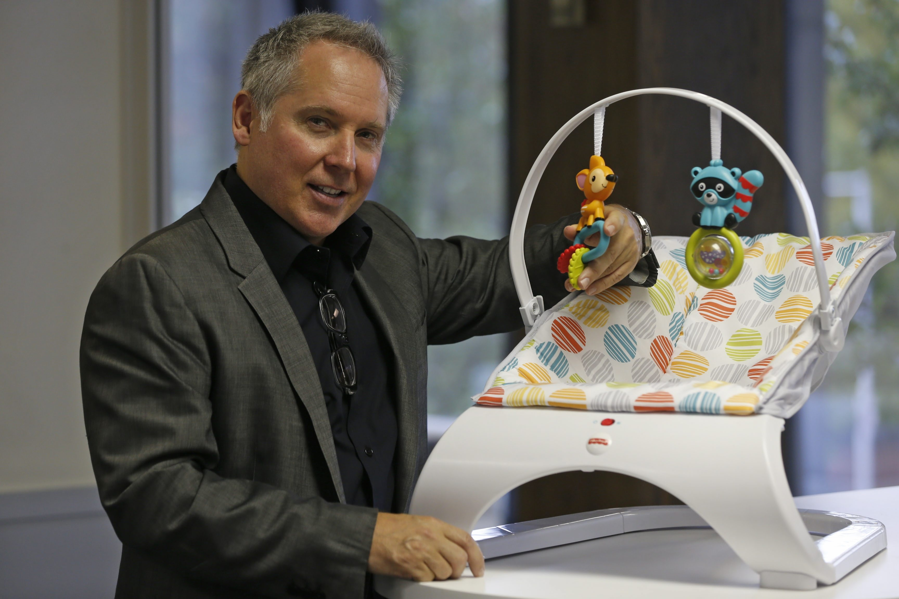 Mark Zeller, senior vice president of design at Fisher-Price, said some toys must fit in with a home's decor.