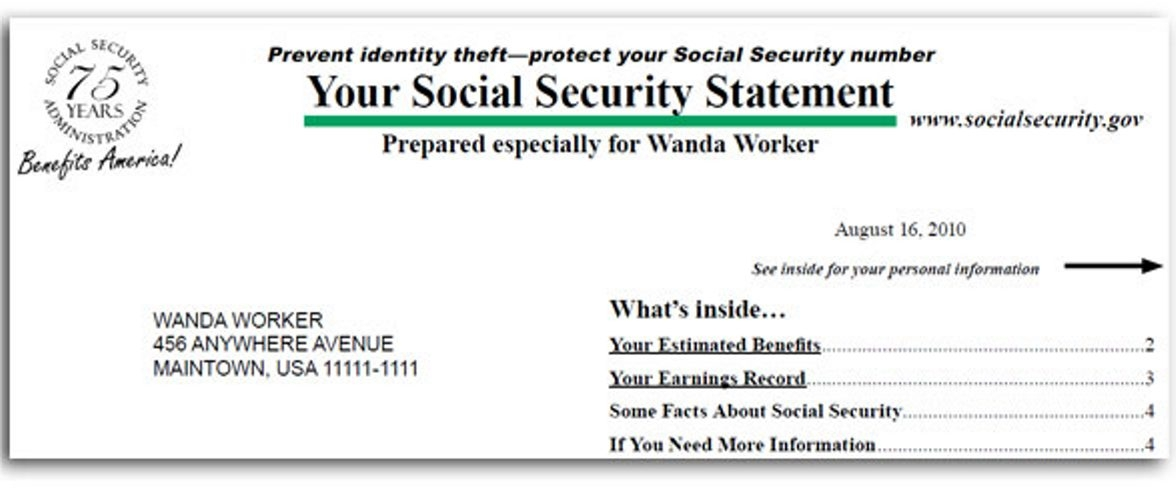 Social security administration statements are back in the mail the social security administration statements are back in the mail thecheapjerseys Gallery
