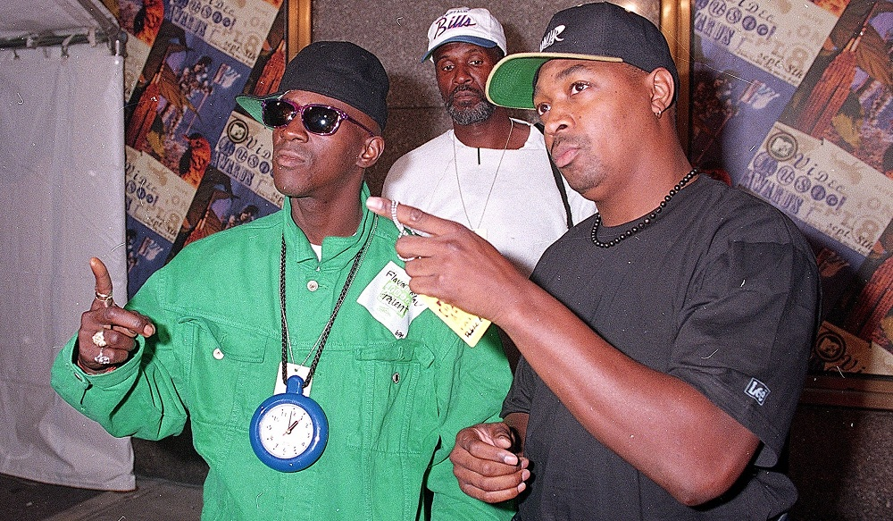 Flavor Flav, left, and Chuck D. of Public Enemy find themselves in Jeff Miers' five perfect albums. (Associated Press)