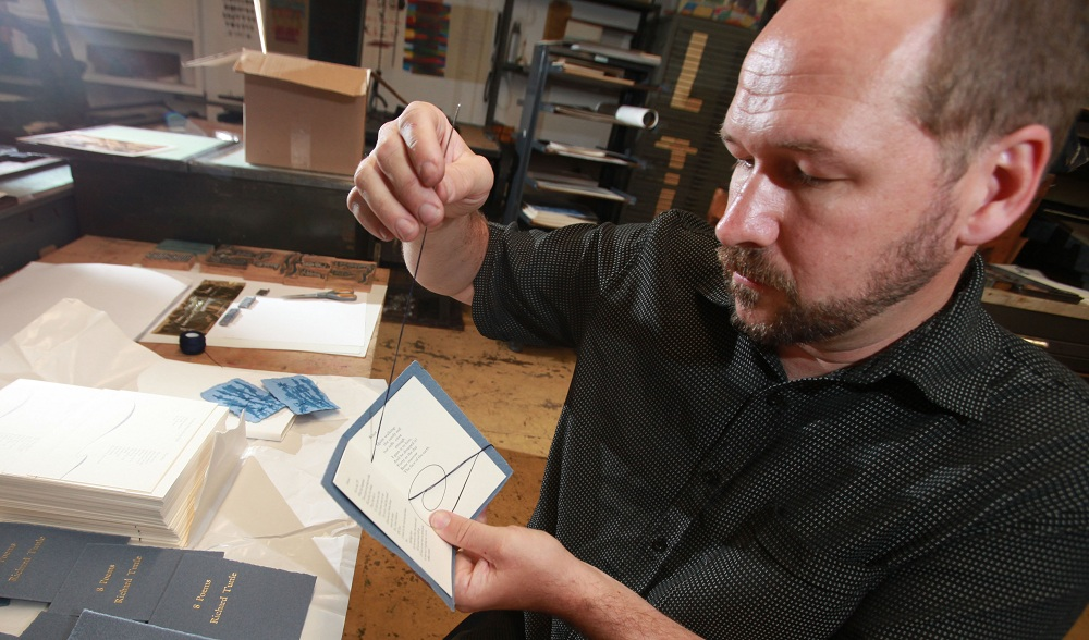 Richard Kegler, co-founder and former director of WNY Book Arts Center, has much of his recent work on display. (Sharon Cantillon / Buffalo News file photo)