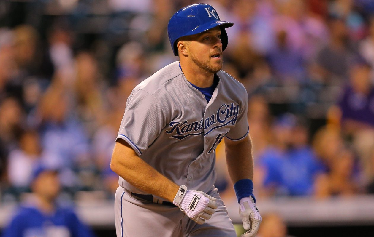 Erik Kratz went from the Bisons to the Blue Jays four times in 2014 before landing in the World Series with the Royals (Getty Images).