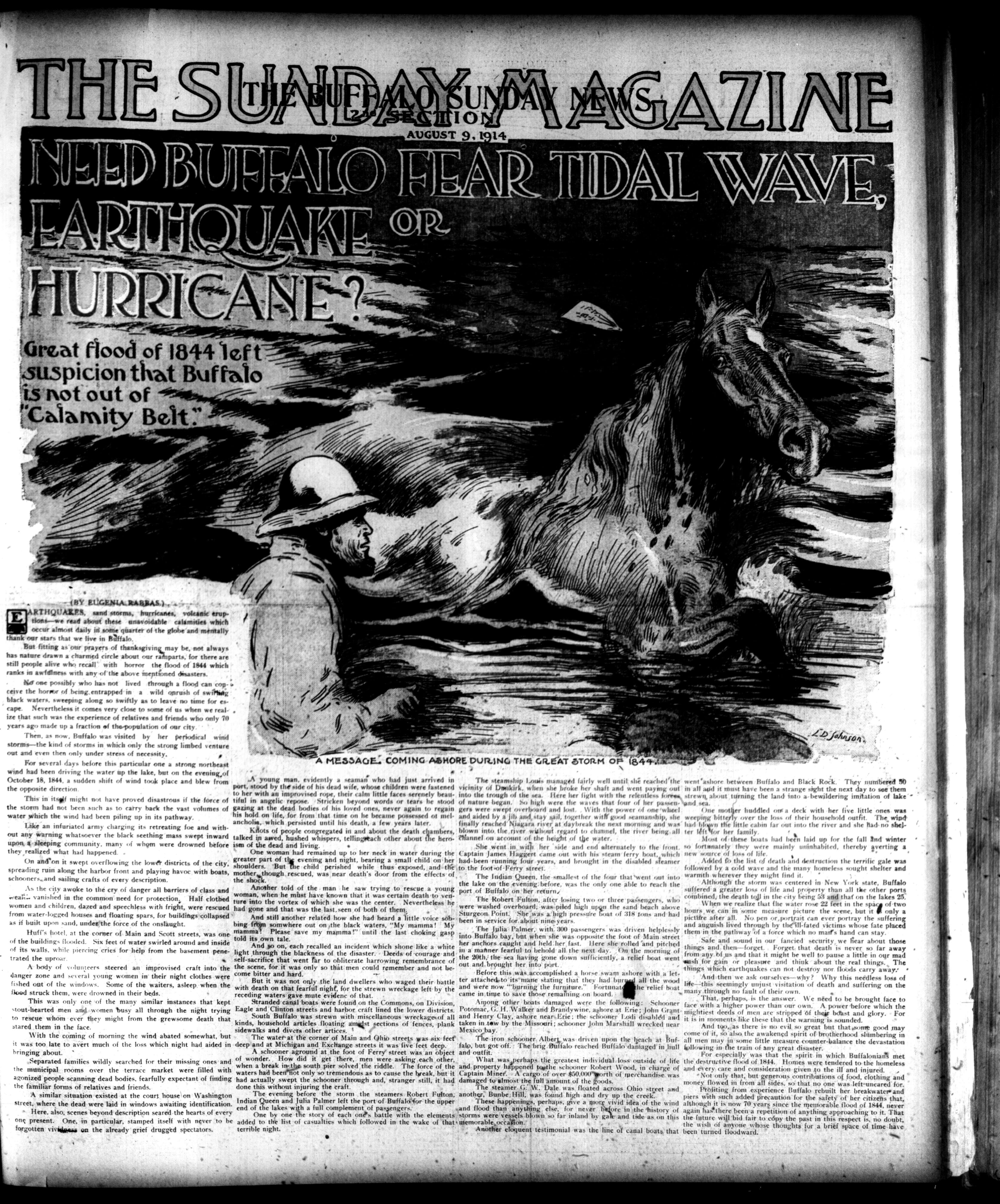 The story as it appeared Aug. 9, 1914.