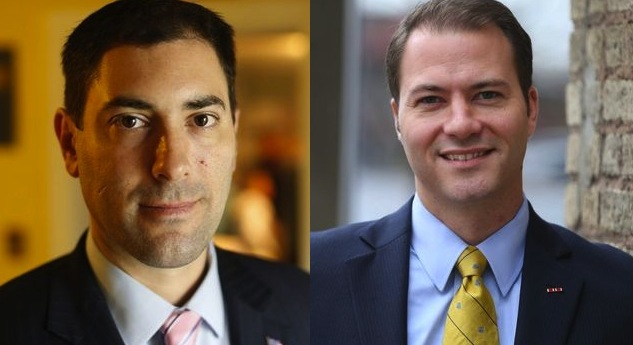 Democrat Johnny Destino, left, and Republican Rob Ortt are running for the 62nd District seat in the State Senate. (Buffalo News file photos)