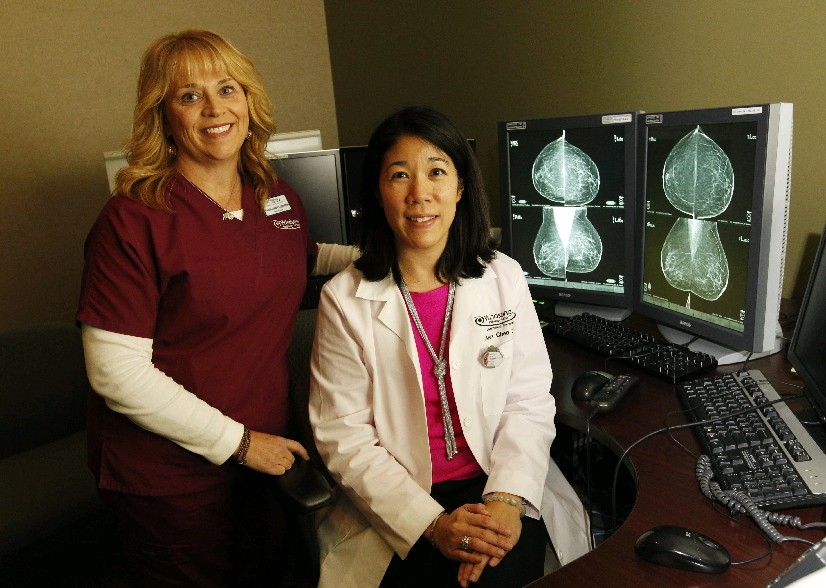 Maureen Connors, left, a certified breast imaging patient navigator, and  Dr. Anna Chen help lead the Windsong Radiology Group's Comprehensive Breast Care Program. (Sharon Cantillon/Buffalo News)