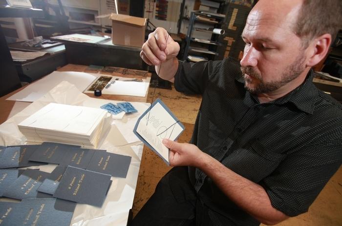 The Western New York Book Arts Center honors co-founder Richard Kegler with an exhibit of his work. (Sharon Cantillon/Buffalo News file photo)