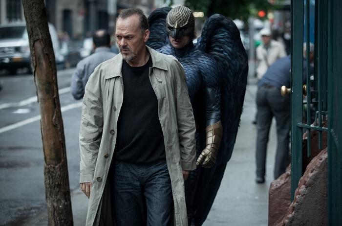 "Michael Keaton gives a stellar performance as Riggan Thomson in ""Birdman."""