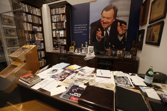Tim Russert's office at the Buffalo History Museum on Thursday, Oct. 16, 2014.  (Robert Kirkham/Buffalo News)