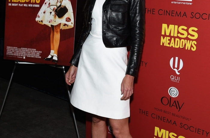 "Actress Katie Holmes attends a screening of her new indie film ""Miss Meadows"" on Nov. 12 in New York City. Director Karen Leigh Hopkins thinks those who see their new film will ""see a whole cacophony of colors"" from Holmes. (Getty Images)"