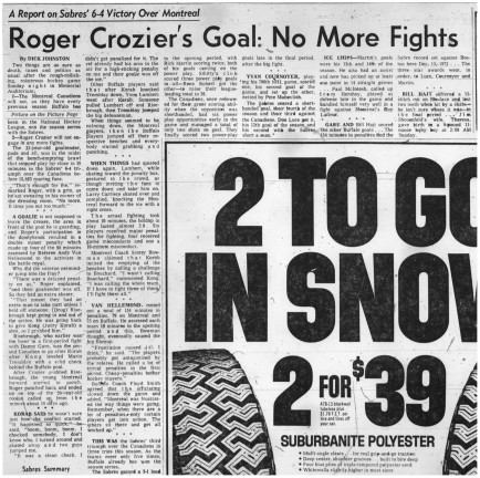 25 nov 1974 no more fights for Crozier