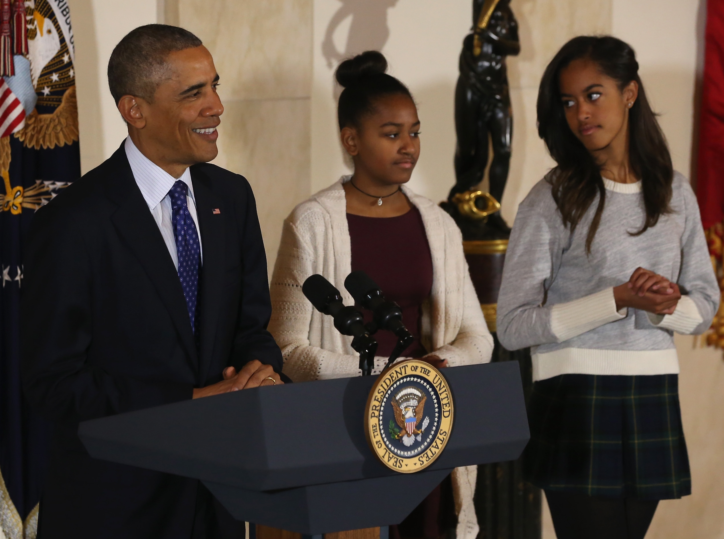 The Presidential pardon of a turkey has been a long time Thanksgiving tradition that dates back to the Harry Truman administration. Some facial reactions made by President Obama's daughters, Sasha and Malia, last week has caused some controversy.