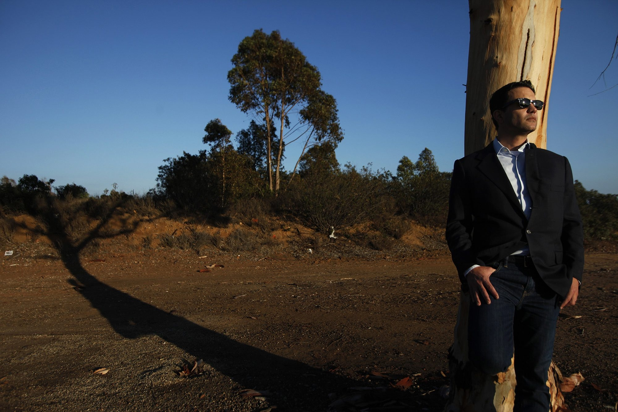 Developer Richard Weintraub stands on the site that he hopes to turn into the Malibu Memorial Cemetery.