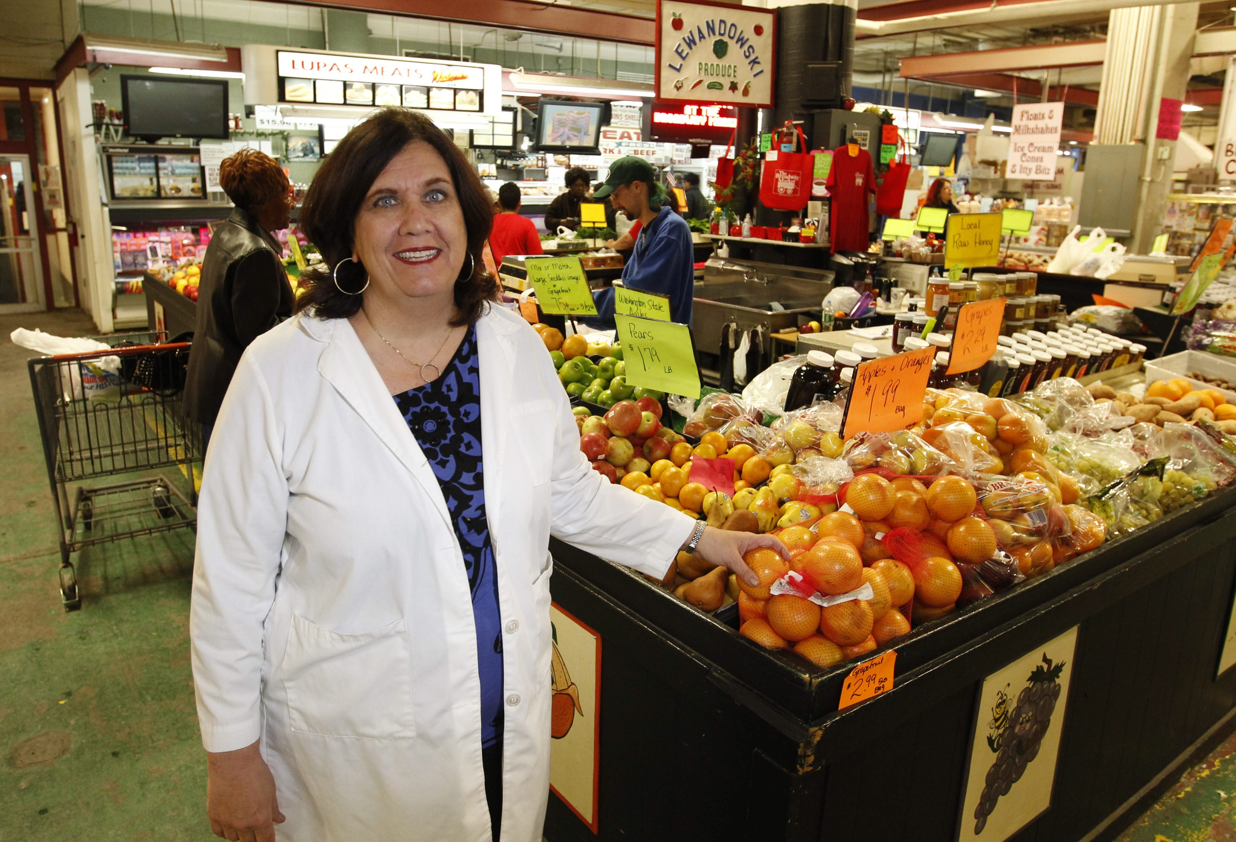 Mary Rose Gaughan of Hamburg helped organize the upcoming Day of Health at the Broadway Market.