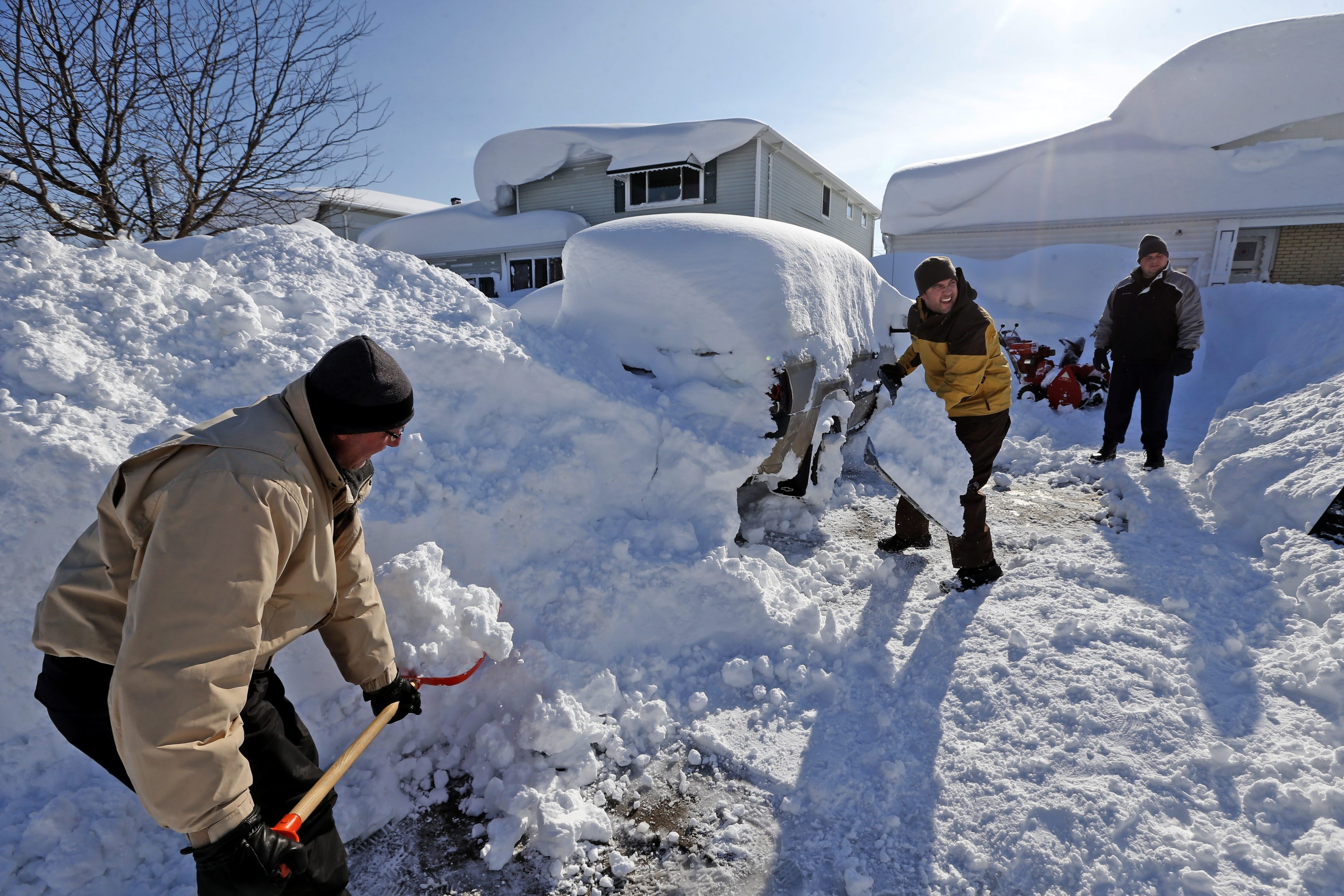 It's important to follow some simple guidelines when shoveling snow like Rick Flick did in Depew following last week's massive storm.