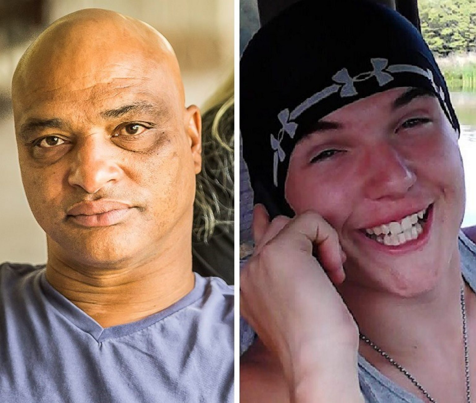 Former Buffalo Bill Darryl Talley, left, is experiencing suicidal depression he suspects is caused by collisions on the football field, while Damon Janes, right, died a year ago after suffering multiple blows to the head in two high school football games.