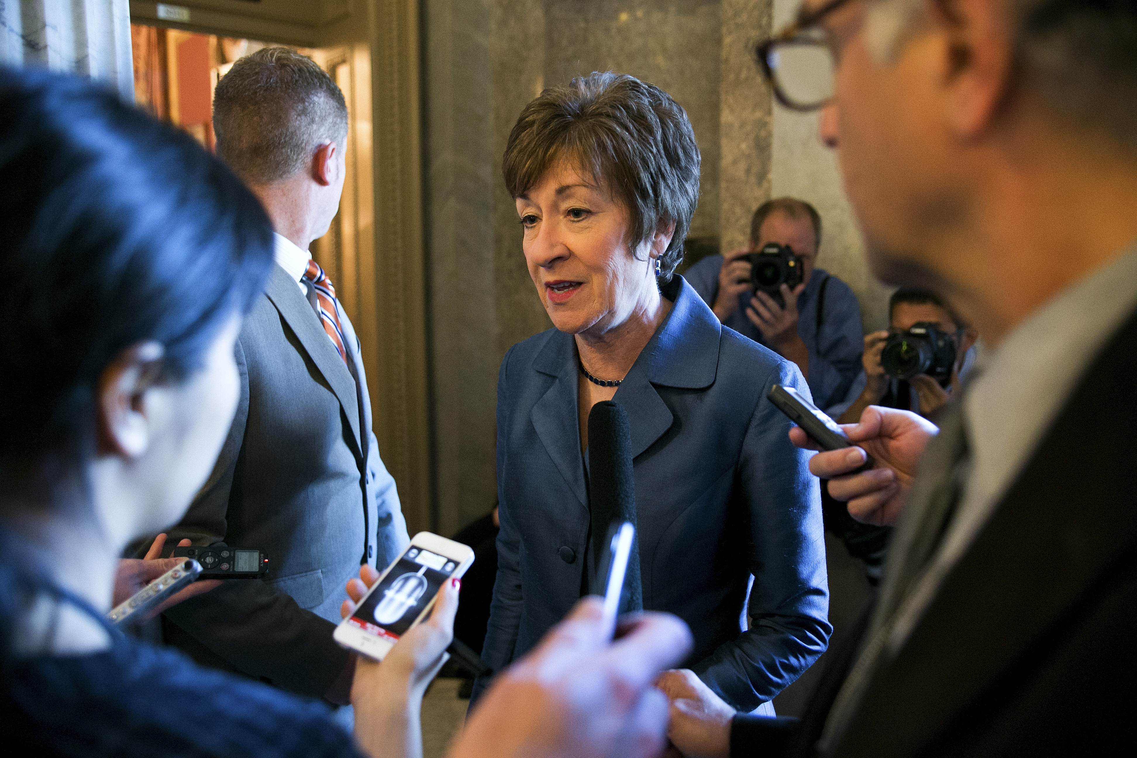 Sen. Susan Collins, R-Maine, favors challenging President Obama's executive order on immigration in the courts.