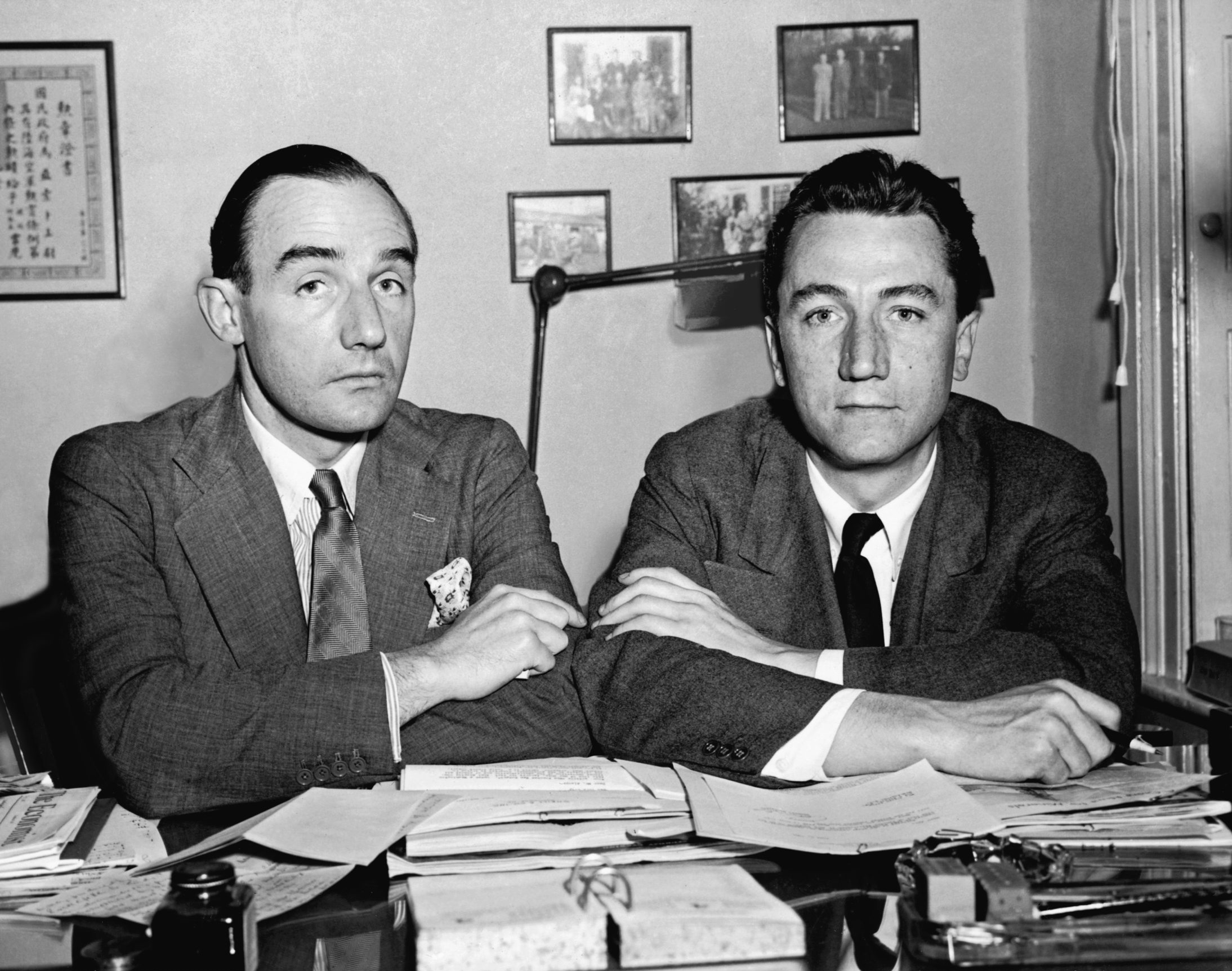 Brothers Joseph, left, and Stewart Alsop were political writers of the Cold War era.