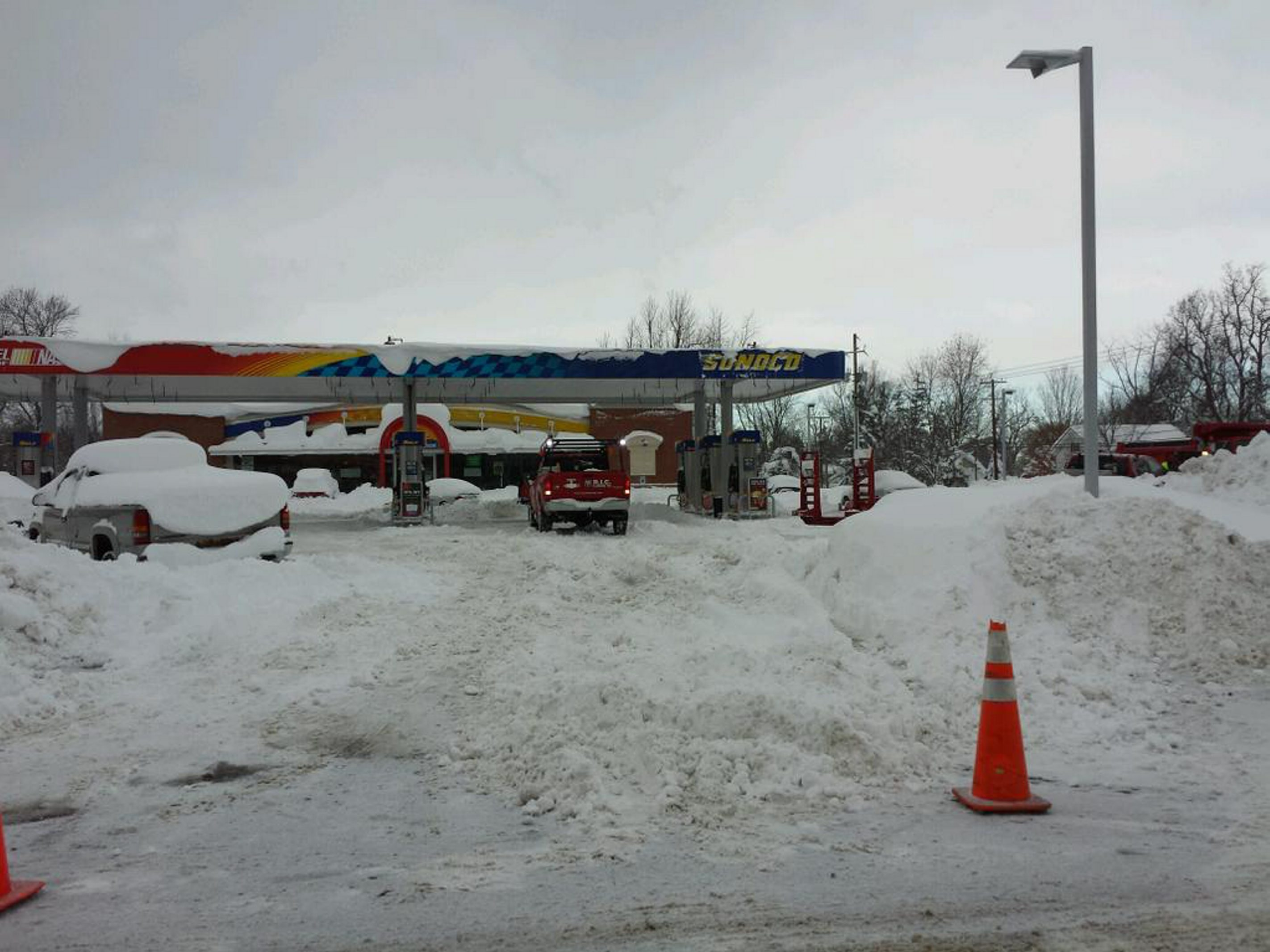 Pic from an unsuccessful gas run this morning. (Sara Meehan)