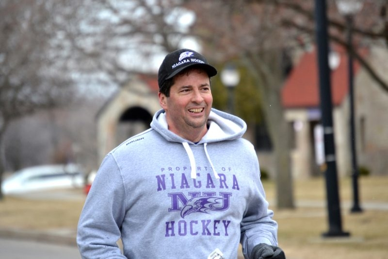 Niagara University President Rev. James J. Maher hopes to raise money and awareness for hunger and poverty.