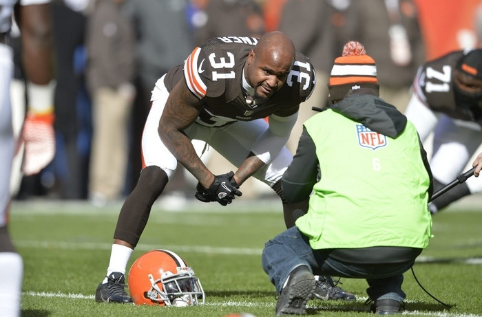 Cleveland Browns safety Donte Whitner will likely hear some booing on Sunday at Ralph Wilson Stadium, where he played for five seasons with the Bills. (Associated Press)