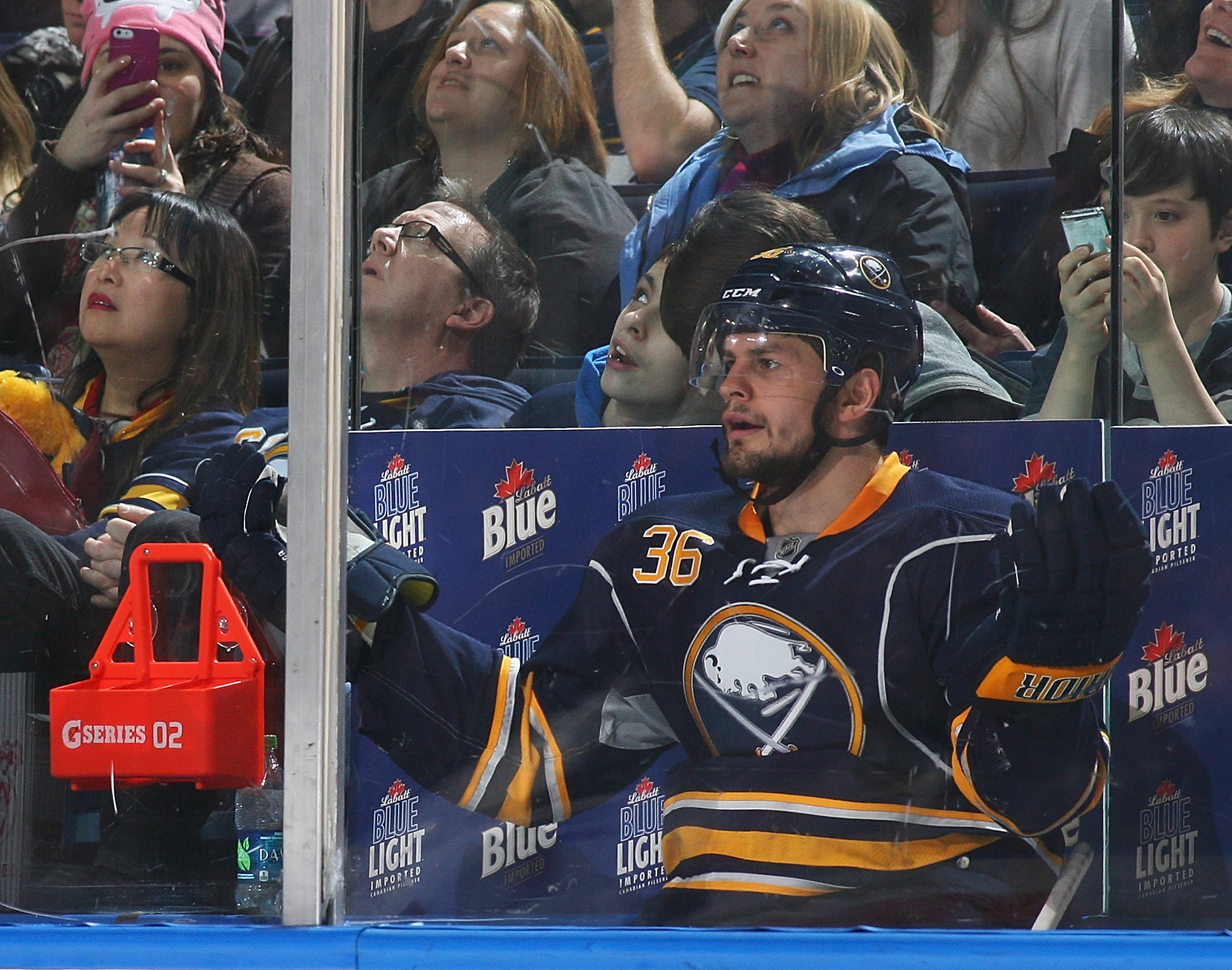 Patrick Kaleta hasn't played in Buffalo since Oct. 10, 2013.  (Photo by Jen Fuller/Getty Images)