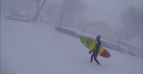 The WNY Expeditioners braved the elements and surfed on Lake Erie during the storm Tuesday. Watch the video below.