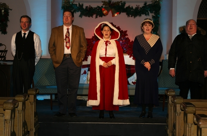"""Joseph Demerly, Kevin Kennedy, Shayna Raichilson-Zadok, Loraine O'Donnell and Christopher Standart appear in """"It WAS a Wonderful Life"""""""