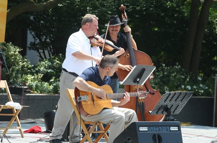 Hot Club of Buffalo blends American big band swing with exotic European Gypsy sounds.
