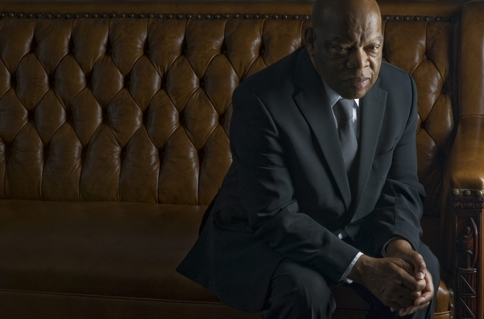 "Rep. John Lewis has viewed ""Selma"" twice. ""Seeing myself being played is almost too much,"" he said."