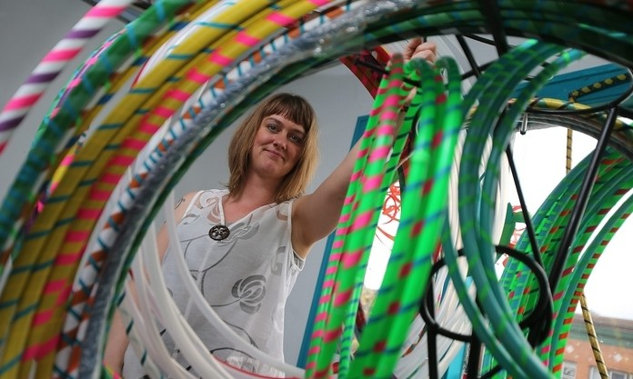 Melissa Campbell's hula-hoop interests have caught on, pushing her to move on from Filigrees. (Buffalo News file photo)