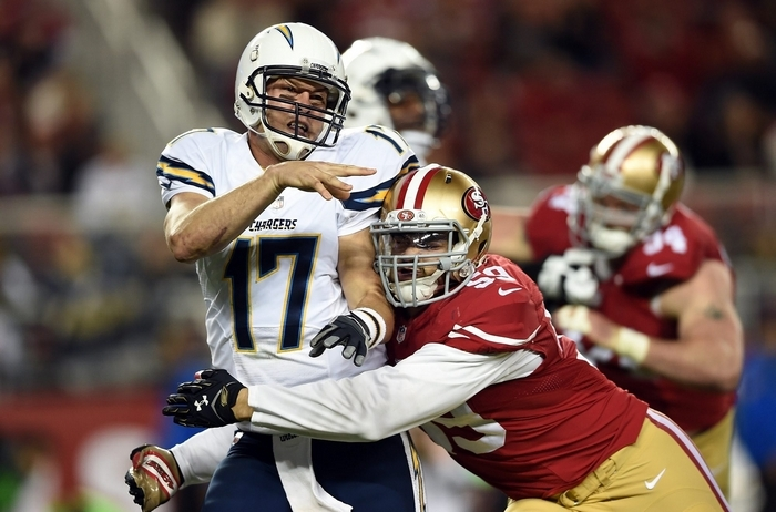 Philip Rivers and the Chargers can clinch a playoff spot with a win and help Sunday. (Getty Images)
