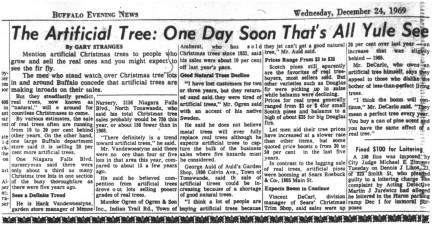 24 dec 1969 artificial trees