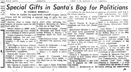 25 dec 1969 santas gifts for politicians