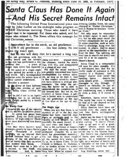 25 dec 1969 santas secret