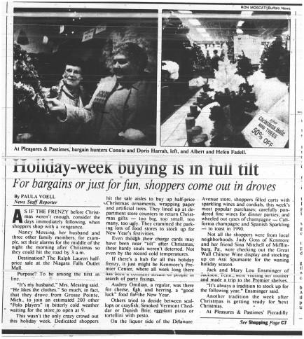 29 dec 1989 holiday week buying