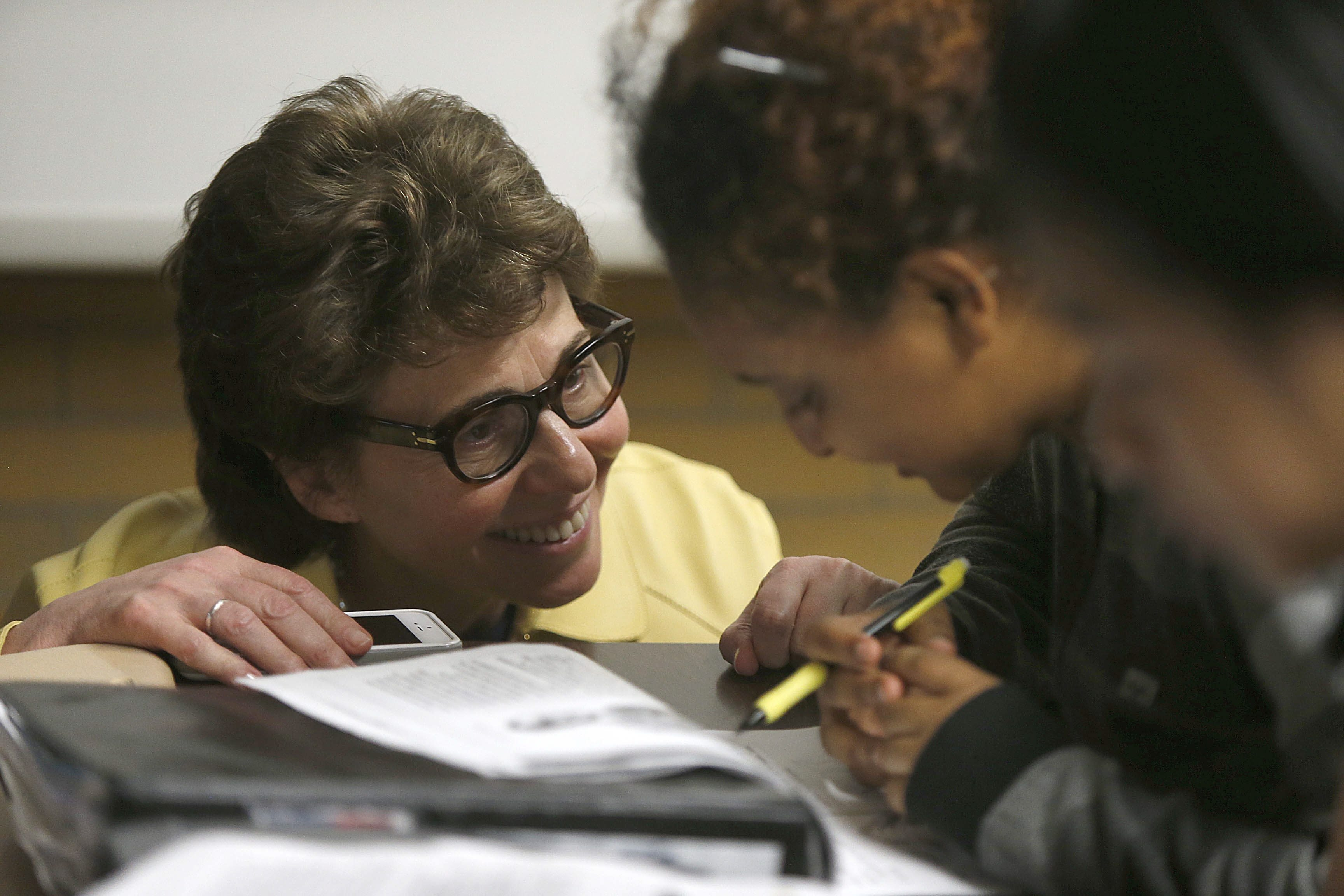 Education Chancellor Merryl H. Tisch, shown in a file photo visiting a Buffalo school, wants to make it easier to remove teachers who receive ineffective ratings in the state teacher evaluation system.  (Robert Kirkham/Buffalo News)