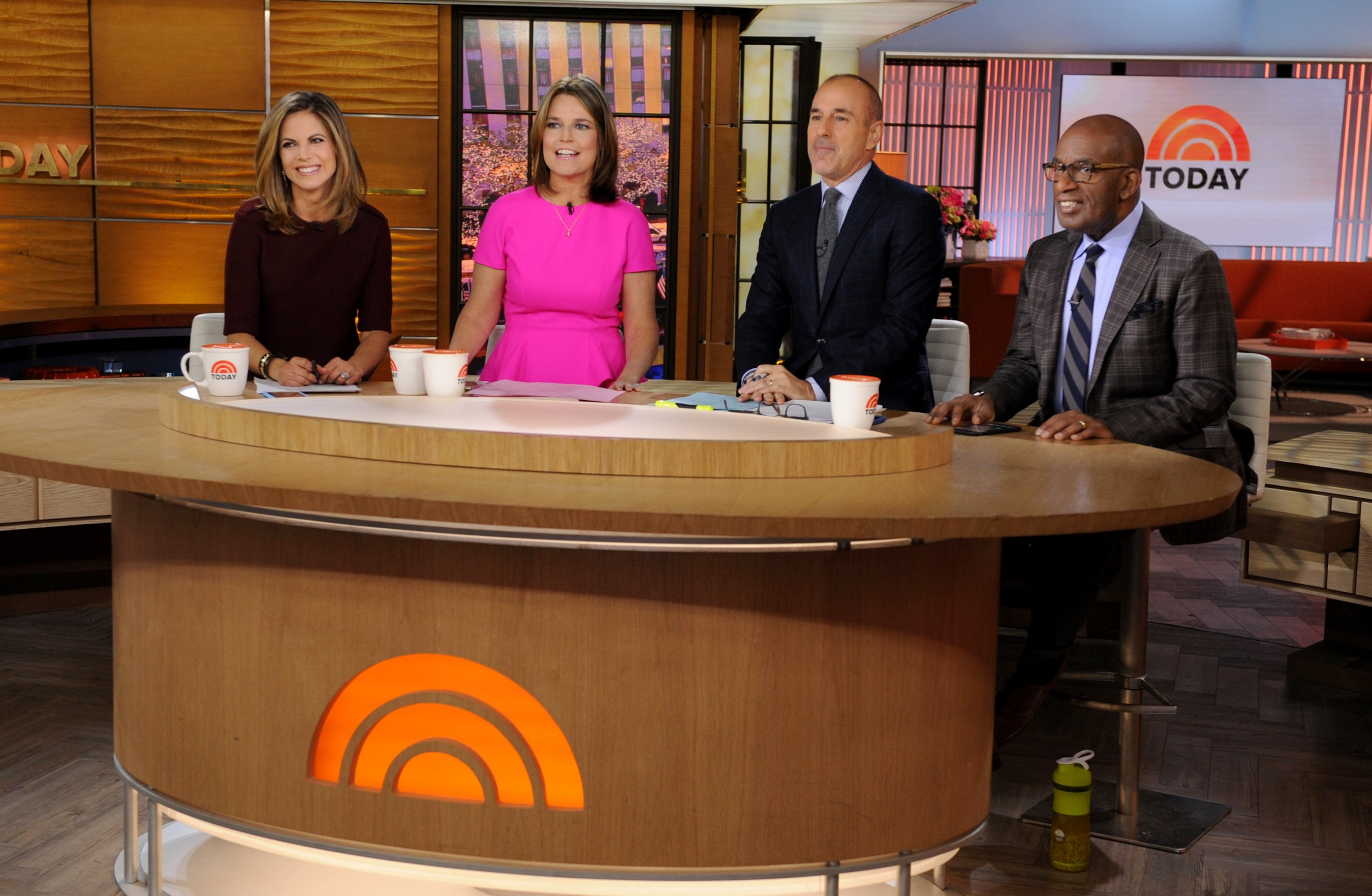 "From left, Natalie Morales, Savannah Guthrie, Matt Lauer and Al Roker on the set of NBC's ""Today"" show. Even in second place among morning shows, it still pulls in high rates for its commercial time, thanks to the legacy of its brand name, Lauer."