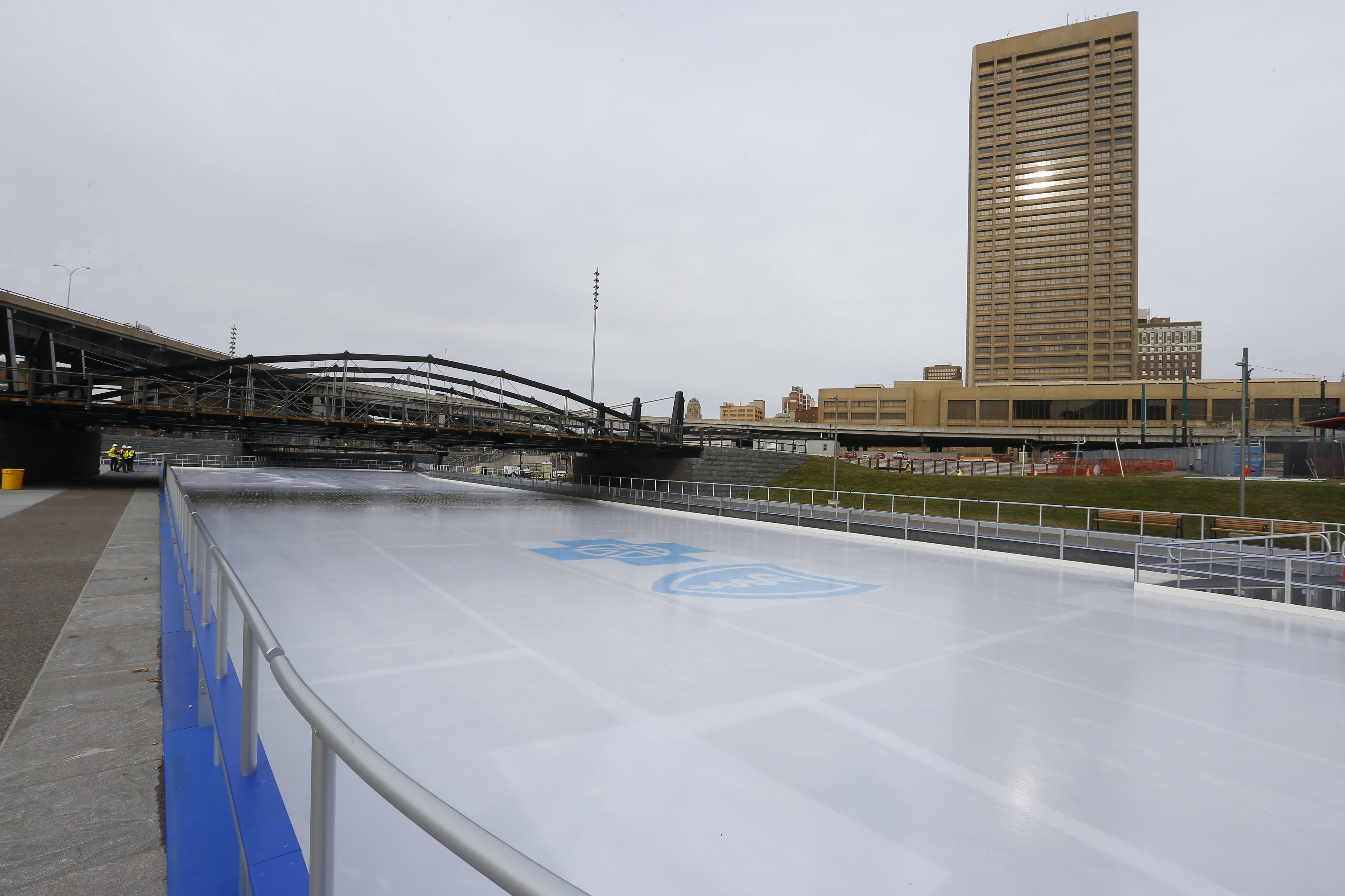 Canalside Ice Rink at the former War Memorial Auditorium site in Buffalo. (John Hickey/Buffalo News)