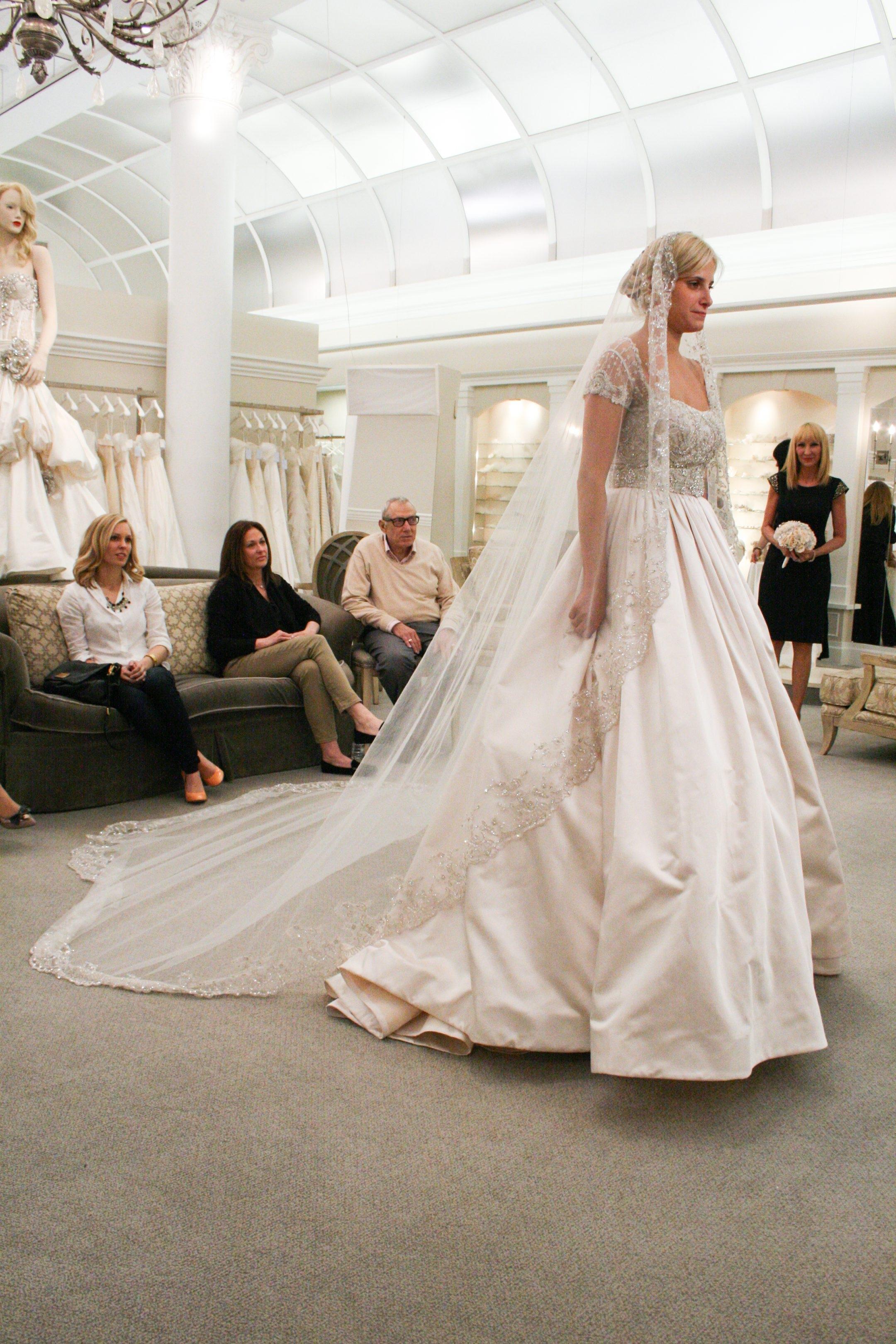 """Zabrina Reich during her dress selection on """"Say Yes to the Dress."""""""