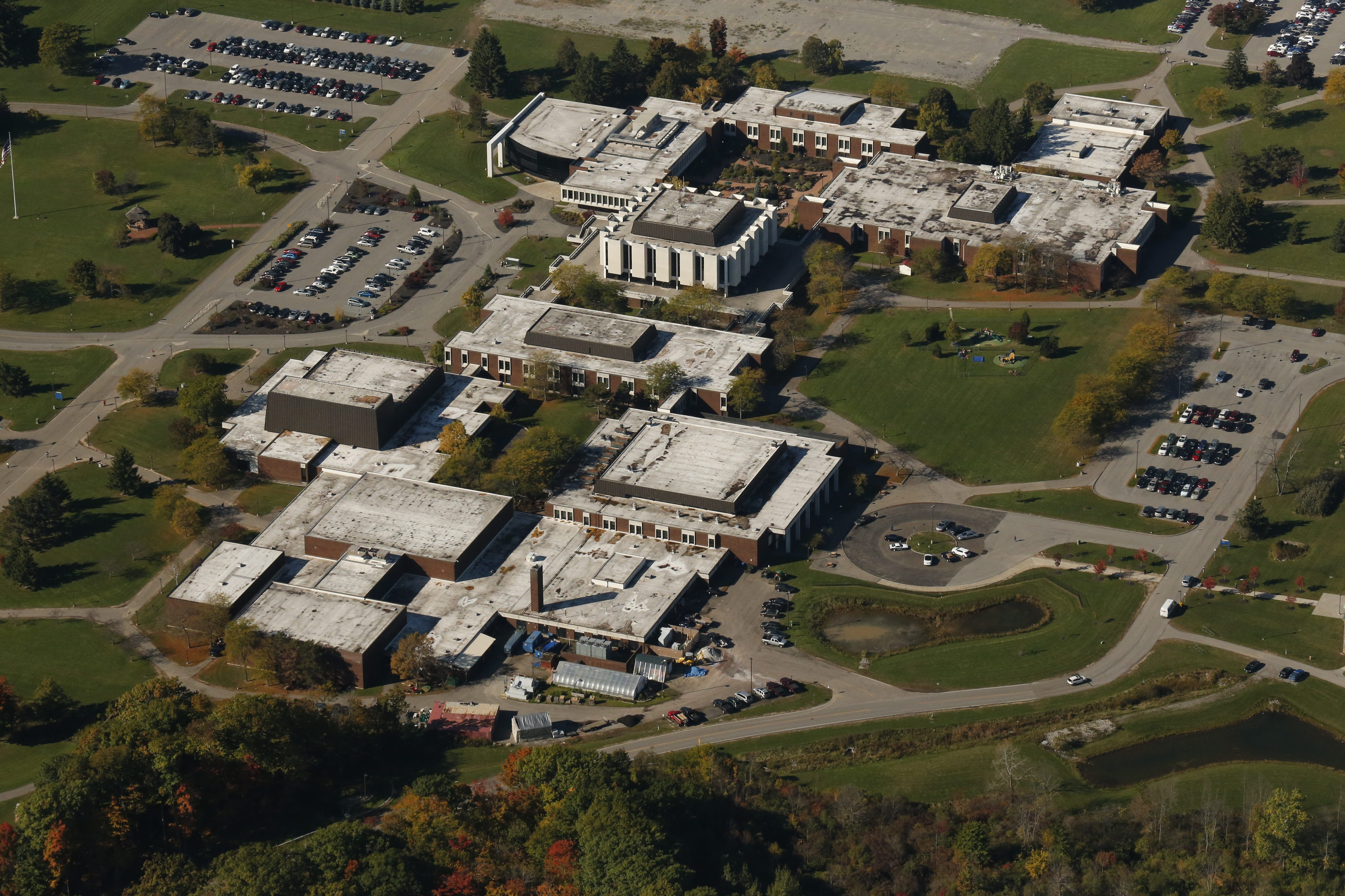 An aerial view of Niagara County Community College in Sanborn. NCCC received $3.4 million from Erie County in 2013-14 in chargebacks for Erie County students who enrolled at NCCC.  (Derek Gee/Buffalo News)