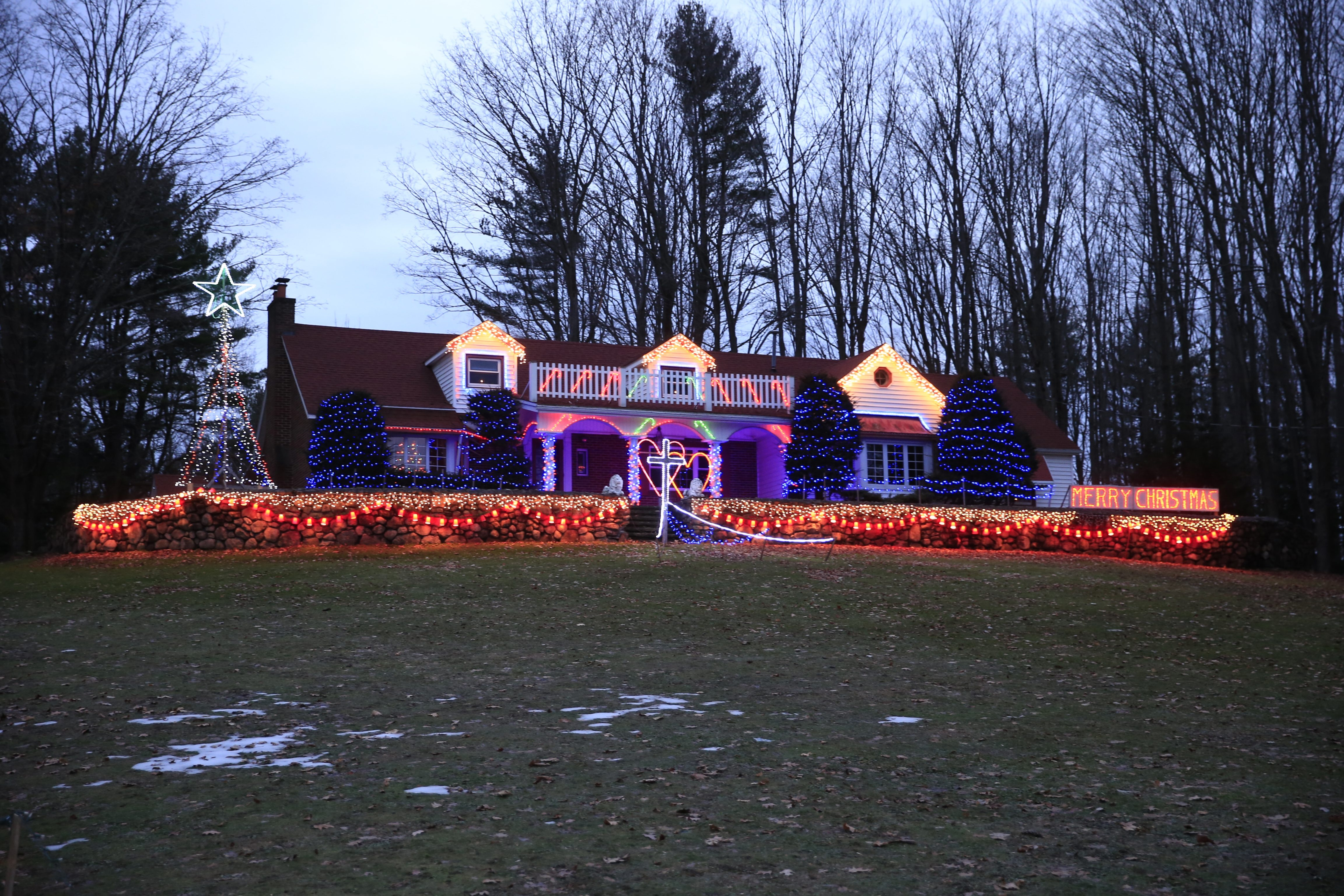 Domenick DellaNeve told The Buffalo News in 1993 that he started decorating his house at 4663 Clark St., Hamburg, for no apparent reason. It shines on this year because his son decided it was what his parents, now both deceased, would have wanted.