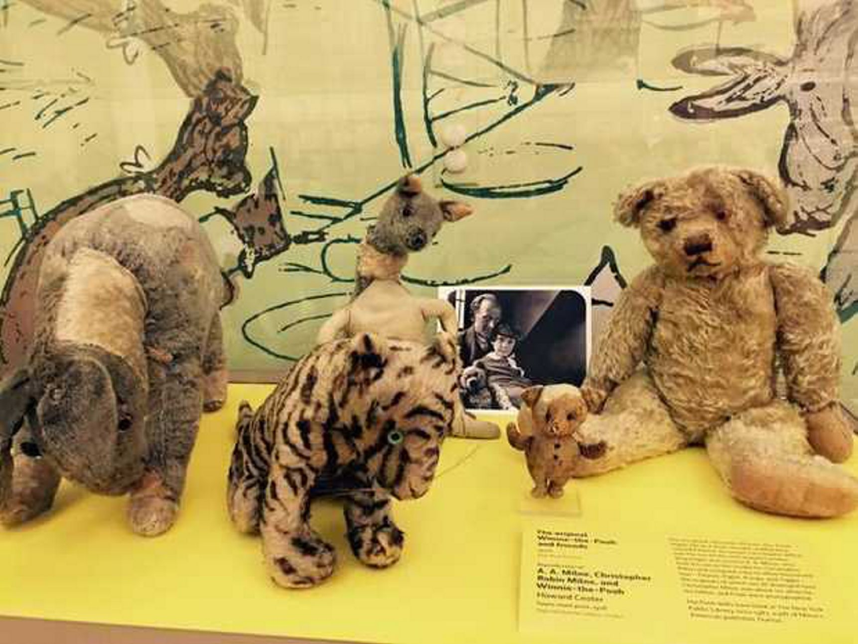 The Winnie-the-Pooh exhibit currently at the New York Public Library.