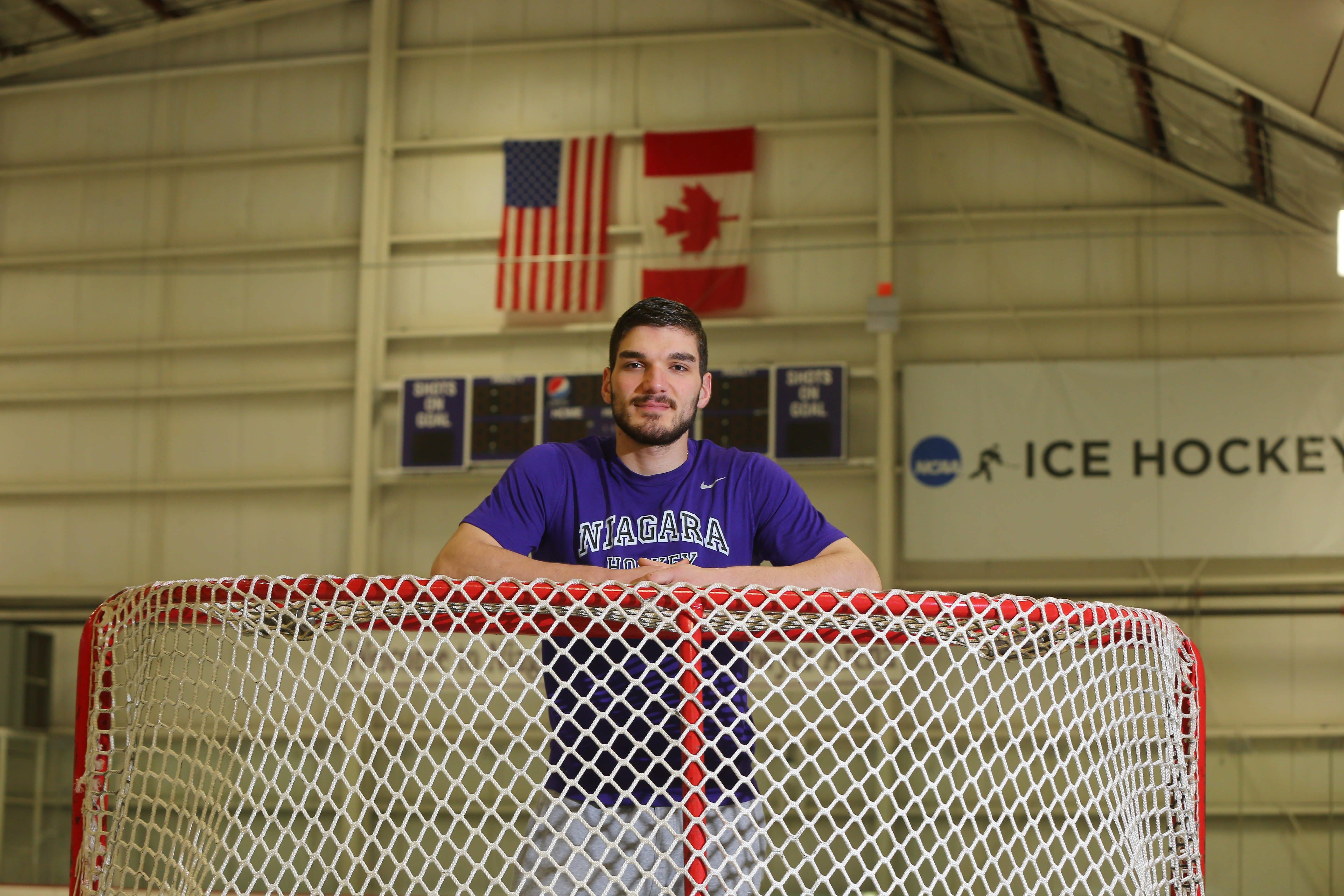 Russian hockey player Stan Dzakhov took a long winding road to play for Niagara.