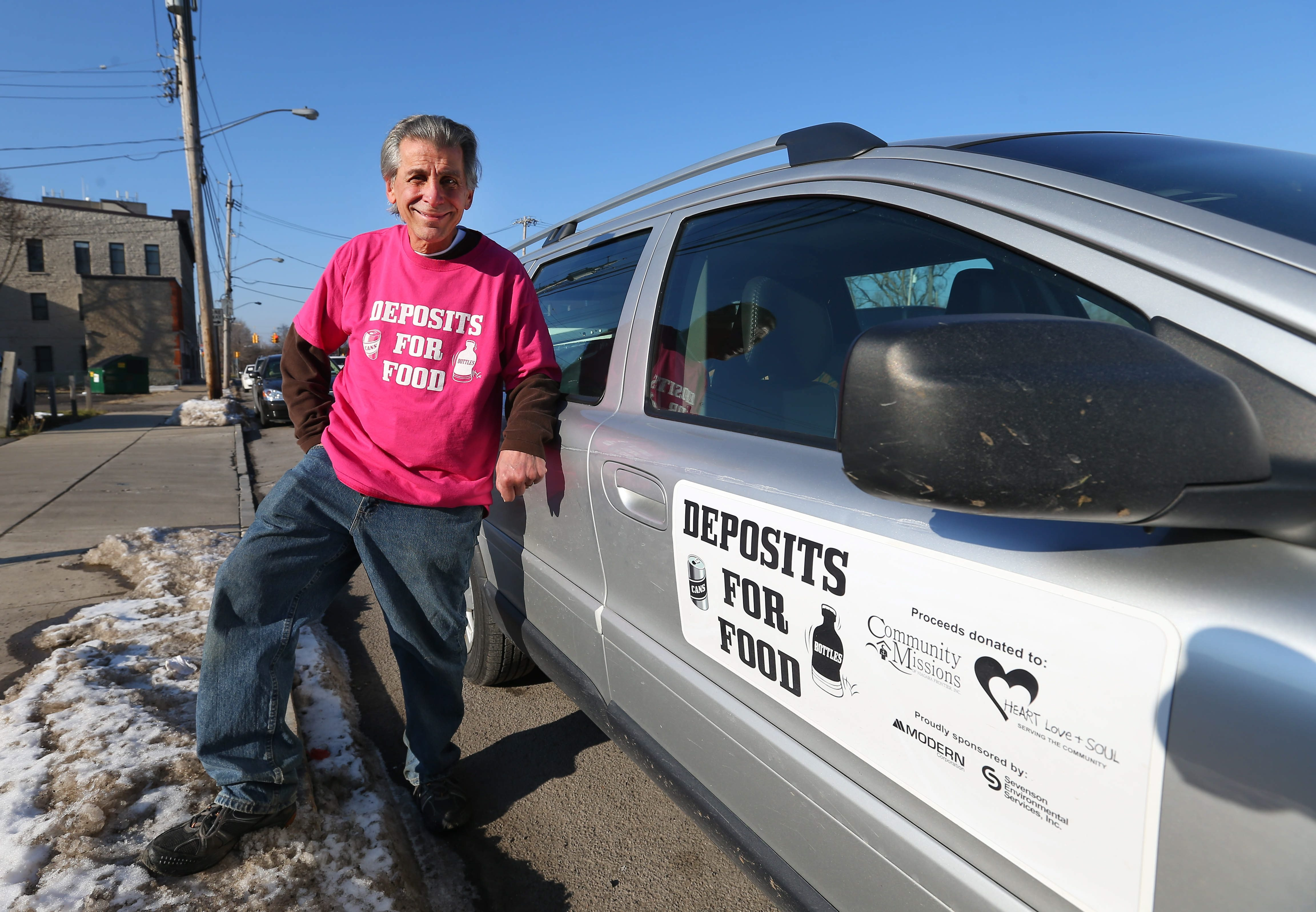Angelo Sarkees spends his retirement collecting returnable bottles. He donates the money to Heart, Love and Soul and Community Missions in Niagara Falls.