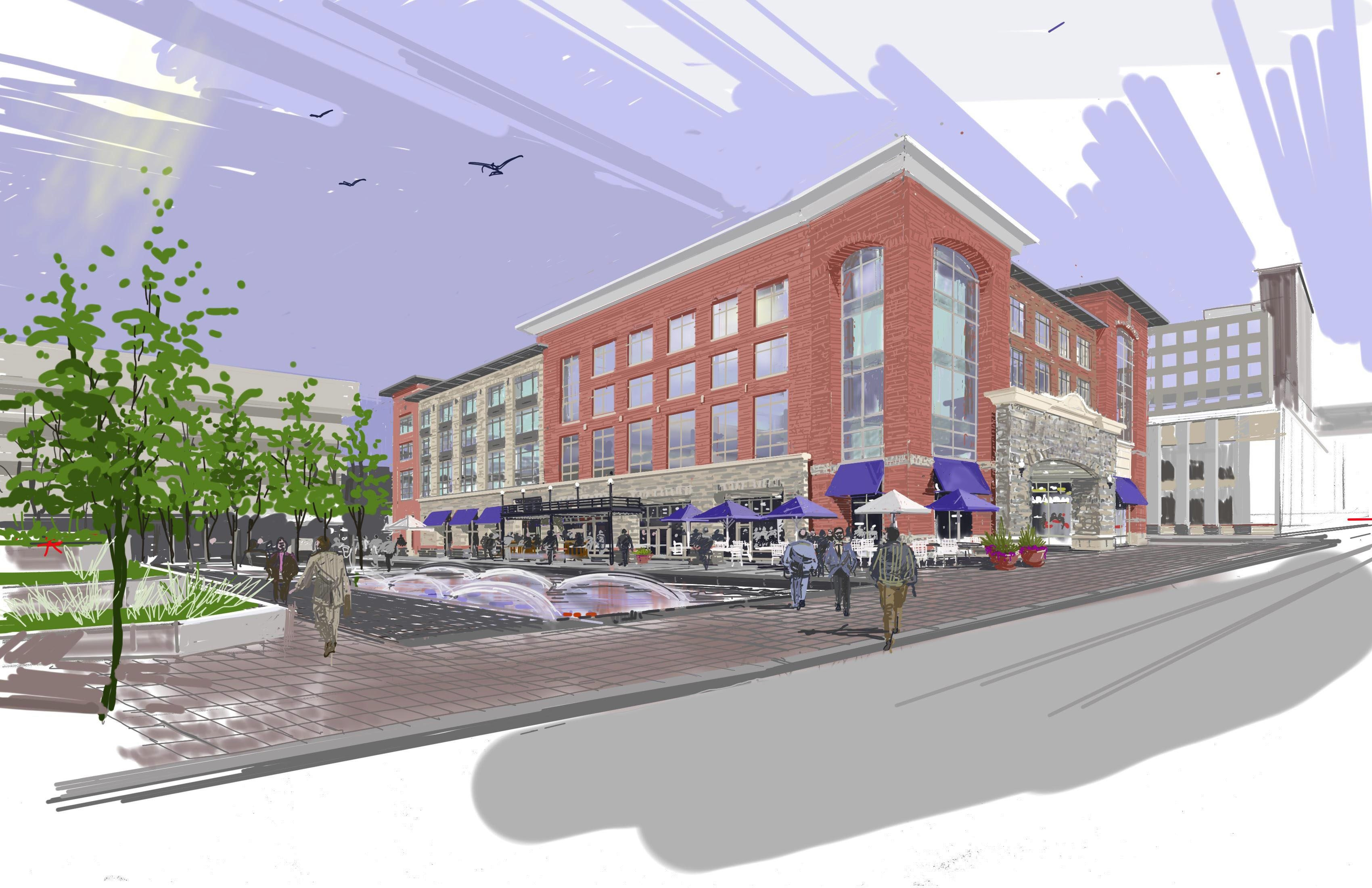A conceptual drawing by Benderson Development represents what is envisioned at Canalside.