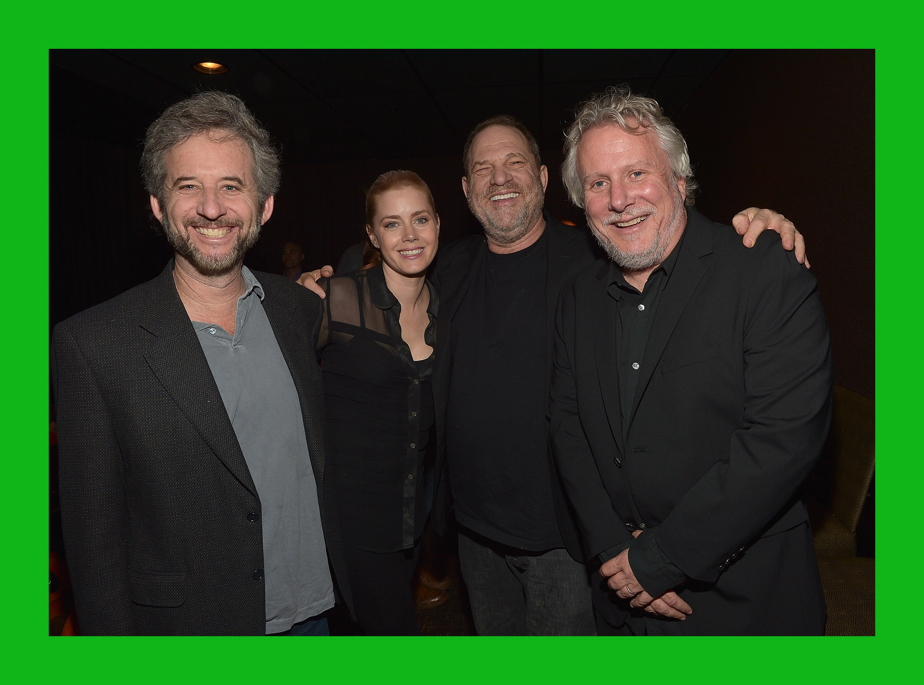 "'Big Eyes' opens: Actress Amy Adams, producer Harvey Weinstein and co-writer Larry Karaszewski attend  the ""Big Eyes"" screening Tuesday in Westwood, Calif."