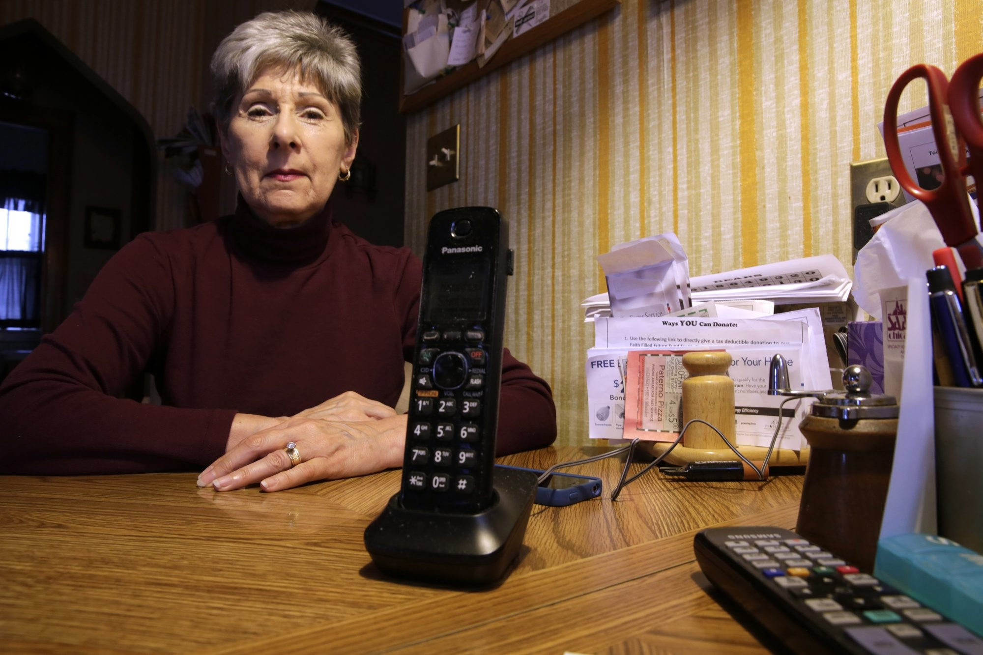 Mary Teister, 72, would like to keep her landline phone. Her husband needs it for his pacemaker, and she says she always knows where her phone is in an emergency.