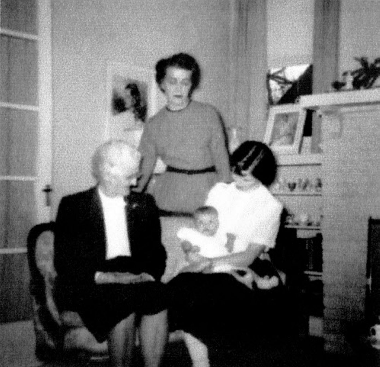 Diane Prettyman DeWall, holding baby Beth DeWall, lovingly created a cookbook with recipes from her mother, Elizabeth Gunn Prettyman, and great-grandmohter Sarah Gunn.