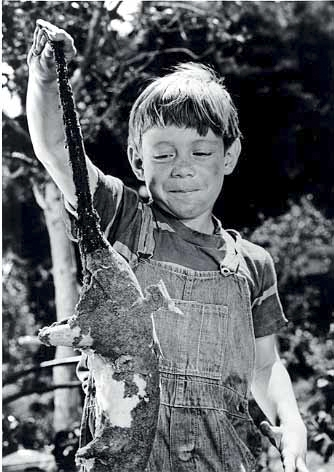 An undated handout image from a 1961 episode entitled 'It's a Good Life,' from the TV series 'The Twilight Zone,' shows actor Bill Mumy holding up a dead animal. CBS and Image Entertainment have released a new no-extras DVD boxed set of all 156 episodes of the series, and several Artists with a penchant for the surreal or nostalgic discuss its enduring appeal. (CBS via The New York Times) -- NO SALES; FOR EDITORIAL USE ONLY WITH STORY SLUGGED TV TWILIGHT ZONE ADV08 BY ERIK PIEPENBURG. ALL OTHER USE PROHIBITED.