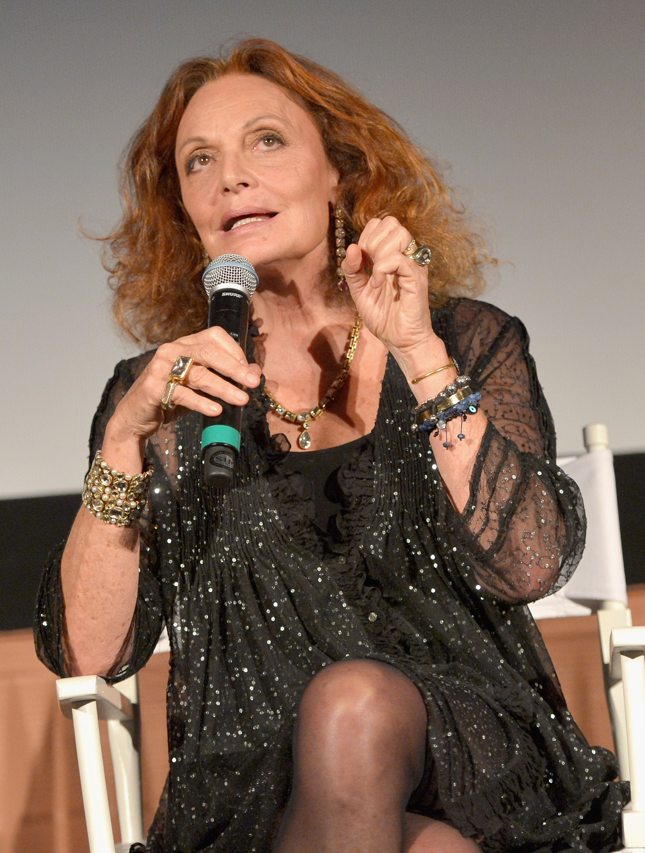 """Speaking her mind: Designer Diane von Furstenberg was in Los Angeles over the weekend, holding forth at the """"House of DVF"""" season finale at the Grove."""